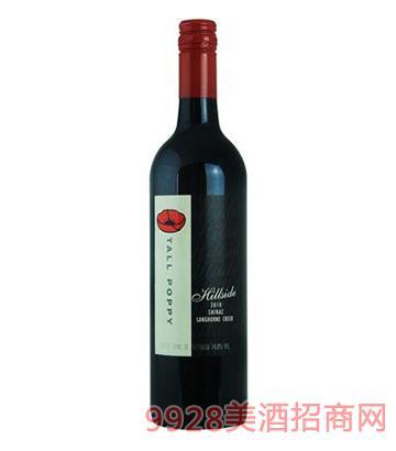 罂粟花山坡西拉子干红葡萄酒