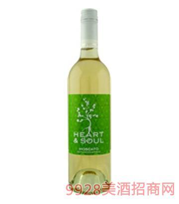 心灵莫斯卡托白葡萄酒
