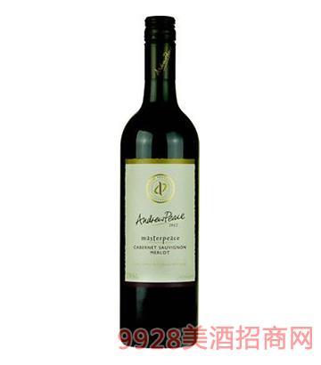 皮士大师赤霞珠梅乐干红葡萄酒