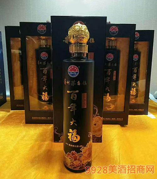 百年大福酒黑瓶酱香型53度500ml