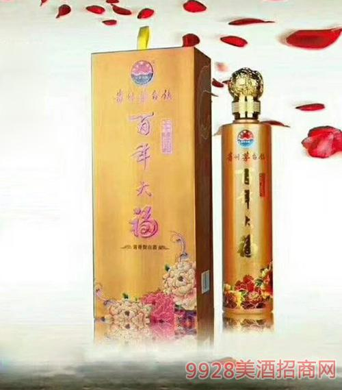 百年大福酒金瓶酱香型53度500ml