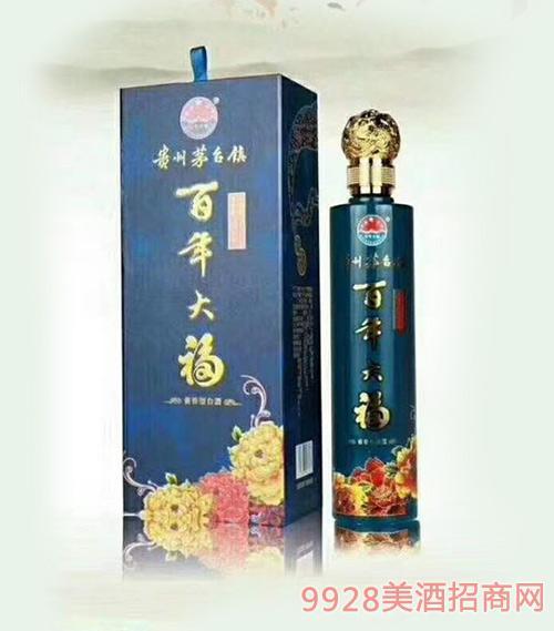百年大福酒蓝瓶酱香型53度500ml