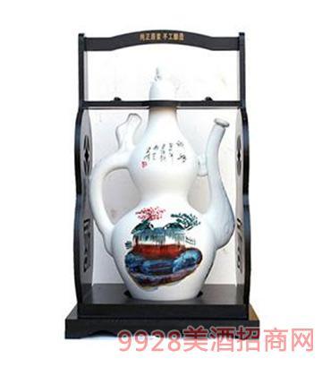 古水坊酒10斤白色磨砂酒壶