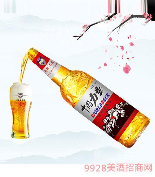 500ml中国力量10°白瓶啤酒