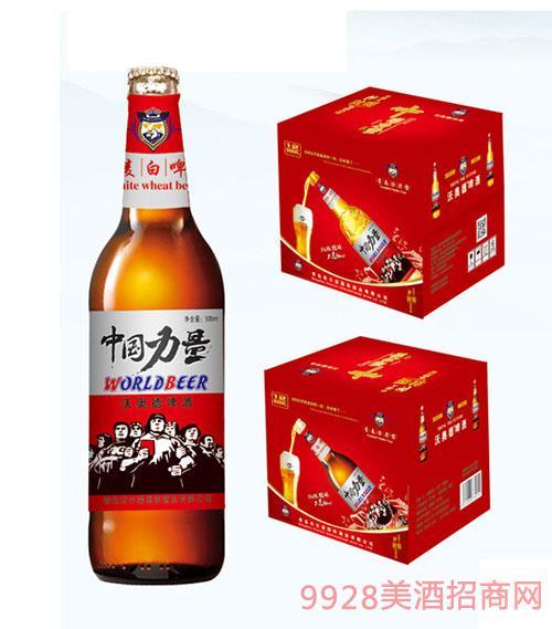 500ml中国力量小麦白啤酒