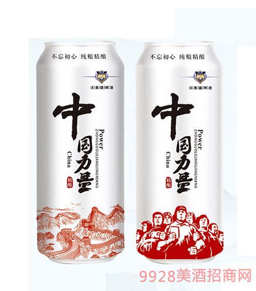 500ml中国力量原浆白啤酒