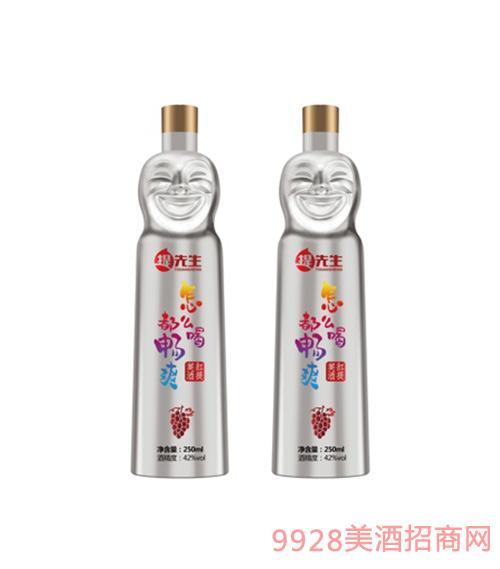 西提贡酒银色瓶42度250ml