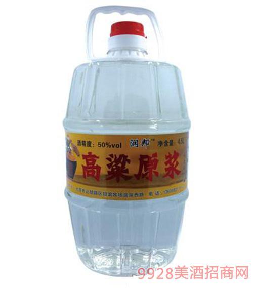 润邦高粱原浆酒金标4.5L