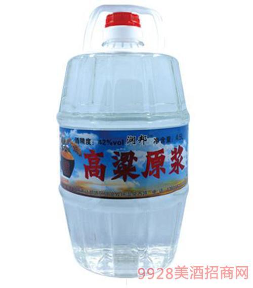润邦高粱原浆酒蓝标4.5L