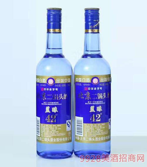 北京二锅头酒蓝酿42度750ml