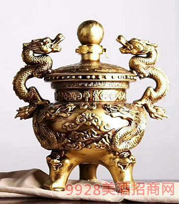 二龙戏珠坛子酒