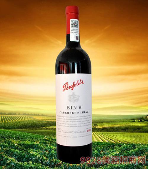 澳大利亚奔富BIN8赤霞珠设拉子干红葡萄酒