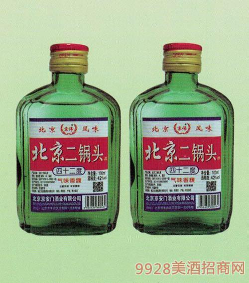 京伟北京二锅头绿瓶42度100ml