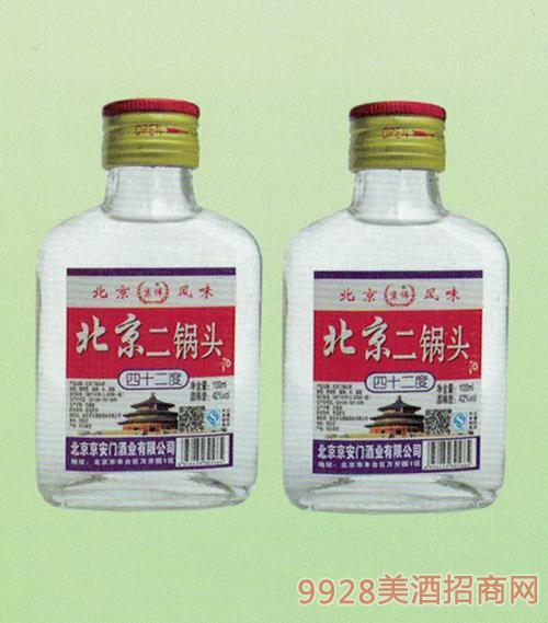 京伟北京二锅头白瓶42度100ml