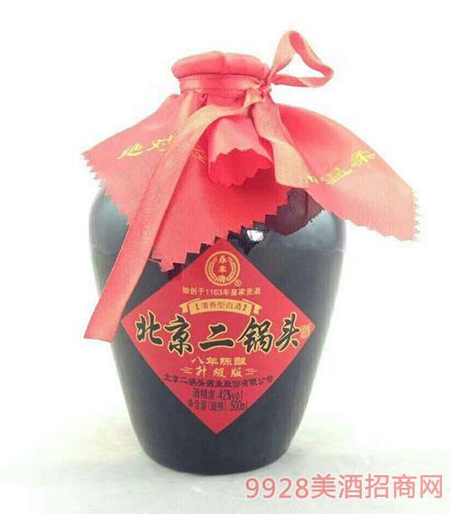 永丰牌北京二锅头酒坛装升级版八年陈酿清香型42度500ml