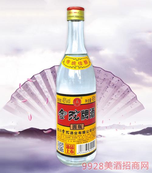 金砣牌酒圆瓶45度450ml
