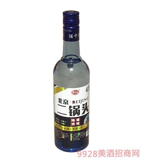 午兰山北京二锅头酒蓝瓶43度500ml