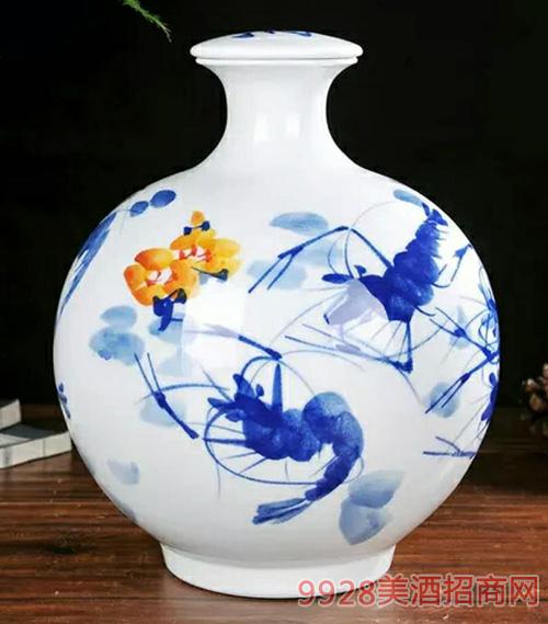 十善芳香鲤鱼戏莲坛子酒十斤装