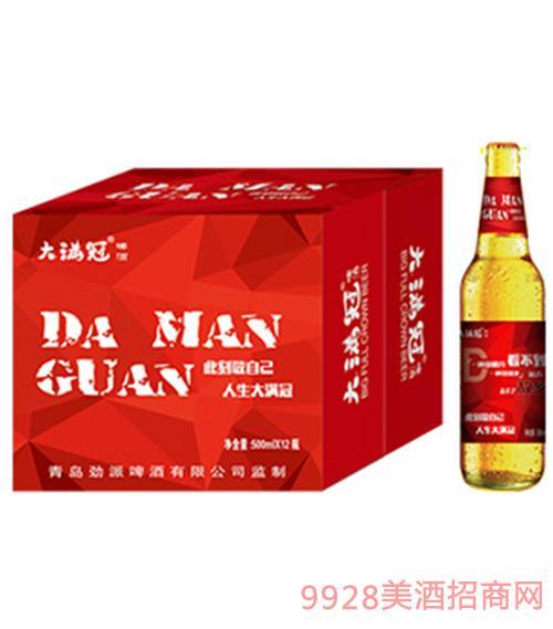 大满冠啤酒文案主题红标500ml×12瓶