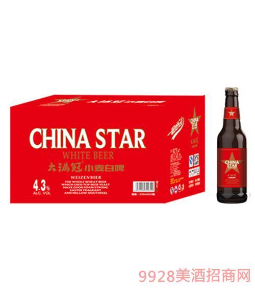 大满冠啤酒小麦白啤330ml×24瓶