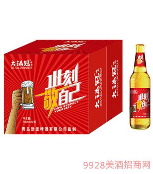 大满冠啤酒此刻敬自己500ml×12瓶
