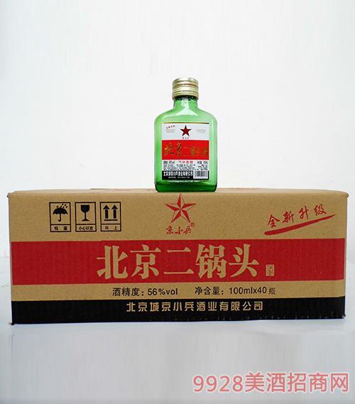京小兵北京二锅头酒56度100mlx40瓶箱装