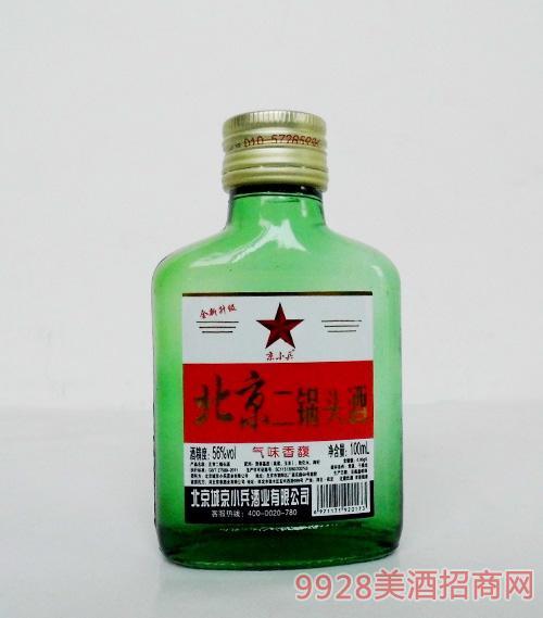 京小兵北京二锅头酒56度100ml绿瓶