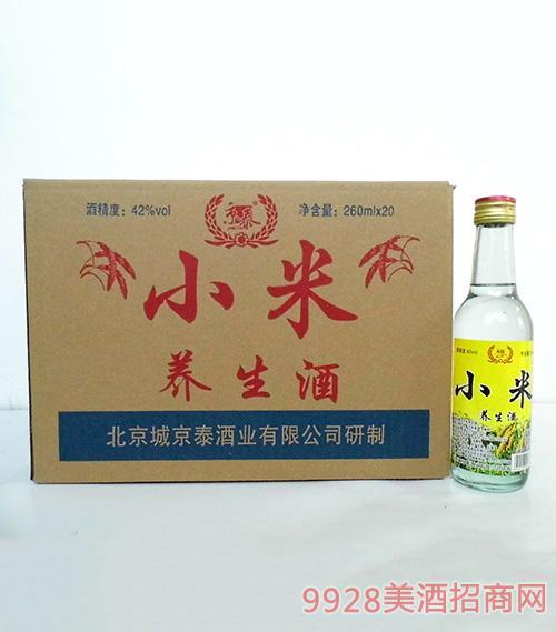 京泰小米养生酒42度260mlx20箱装
