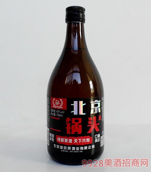 京泰北京二锅头酒42度750ml棕瓶