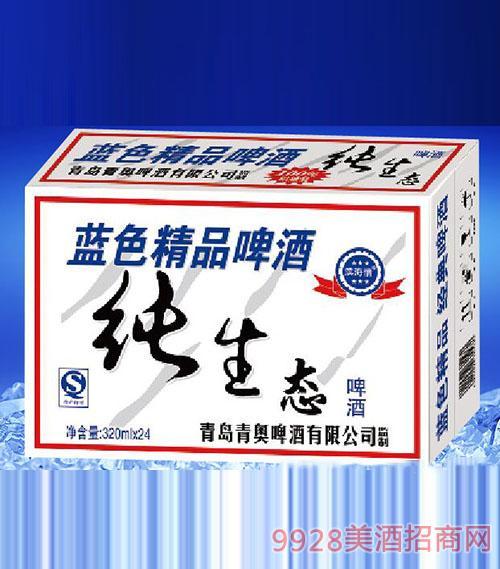 滨海情蓝色精品纯生态啤酒(白箱)