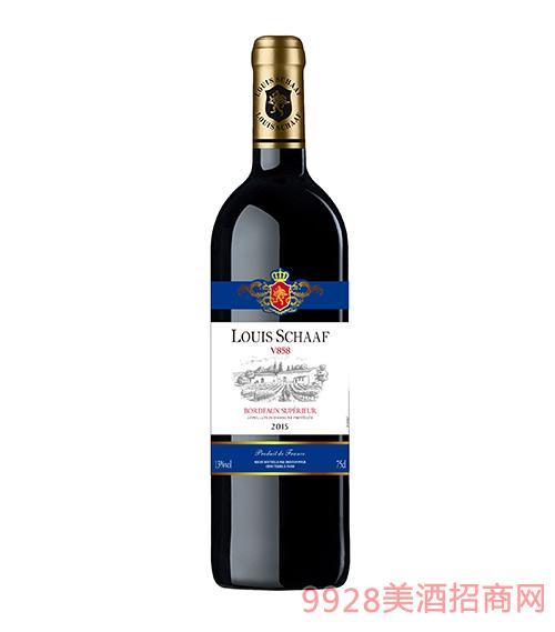 法国路易沙夫V858干红葡萄酒