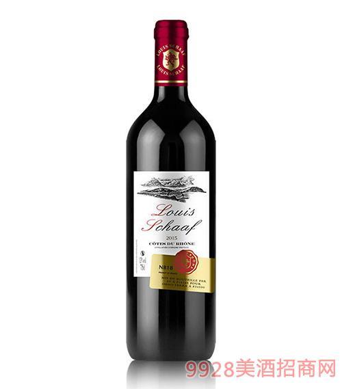 法国路易沙夫N818干红葡萄酒
