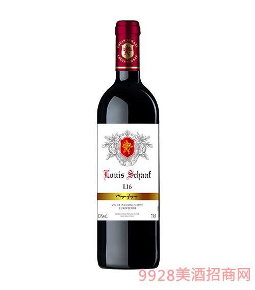 法国路易沙夫L16干红葡萄酒