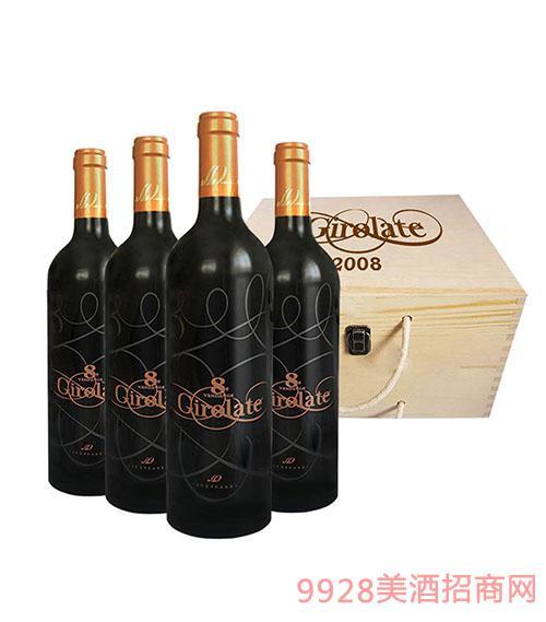 侏罗纪干红葡萄酒木盒装