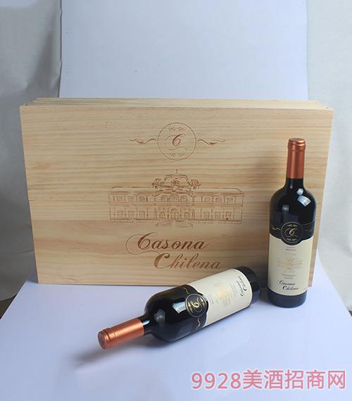 智利小屋赤霞珠干红葡萄酒