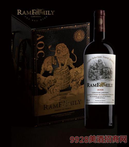 拉姆世家干红葡萄酒4支装