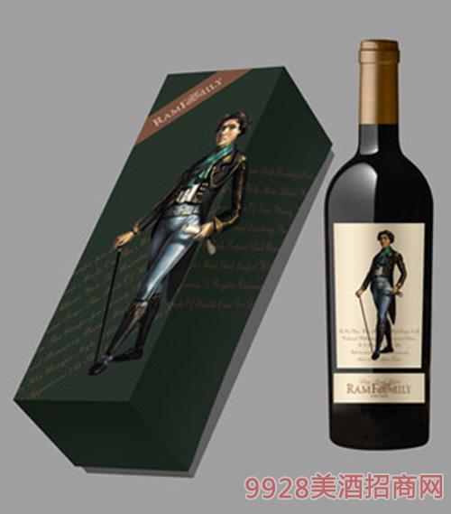 拉姆世家干红葡萄酒绿盒