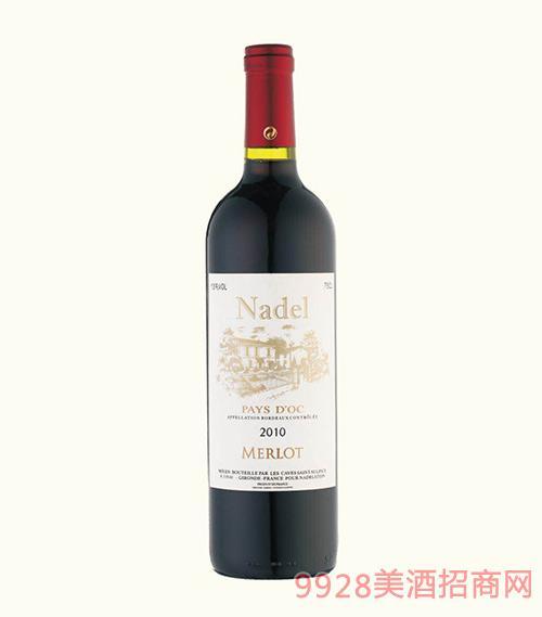 法国波尔多拉古缘纳酒庄2010纳德美乐干红葡萄酒