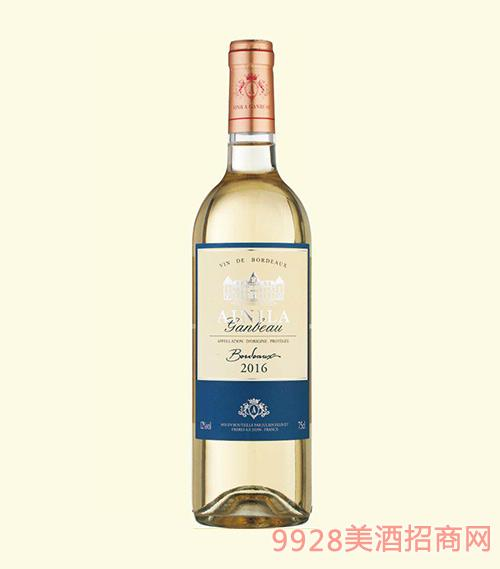 法国波尔多艾尼拉城堡干白葡萄酒