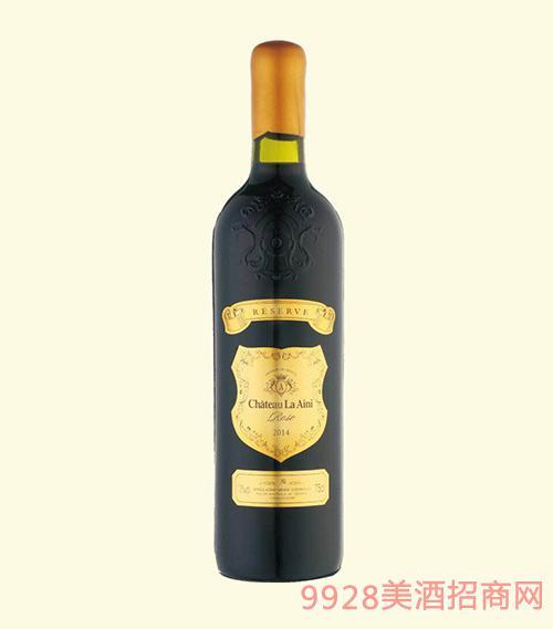 法国波尔多艾尼拉城堡玫瑰干红葡萄酒