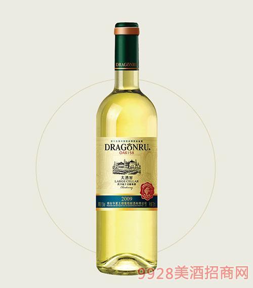 鲁龙大酒窖霞多丽干白葡萄酒2009OAK158