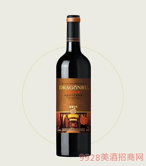 鲁龙酒庄窖藏8年橡木桶窖藏赤霞珠干红葡萄酒
