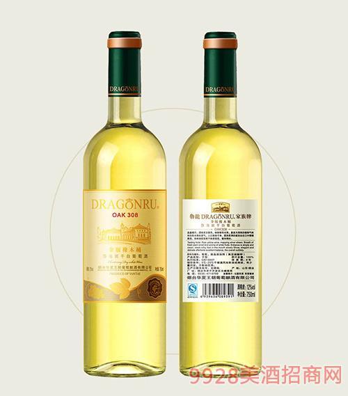 鲁龙酒庄家族牌金版莎当妮干白葡萄酒OAK308