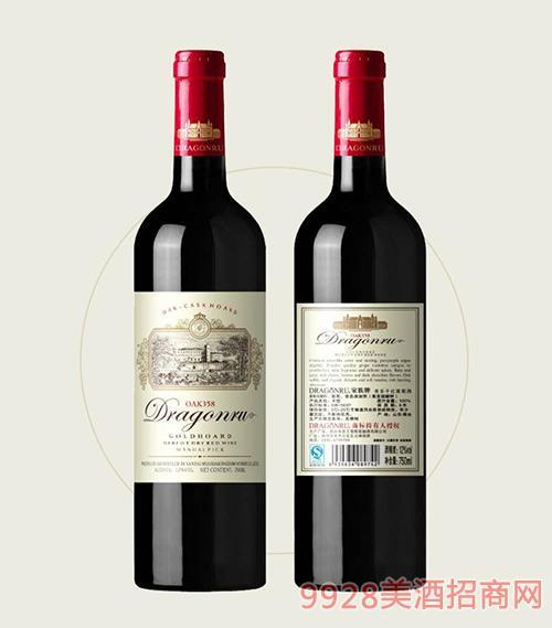 鲁龙酒庄家族牌美乐干红葡萄酒OAK358