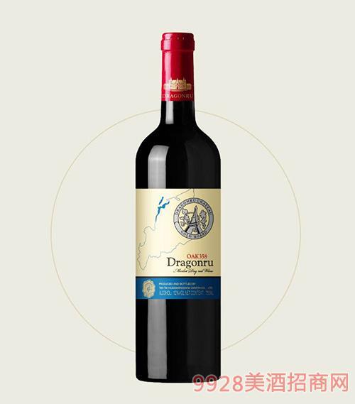 鲁龙酒庄老树美乐干红葡萄酒OAK358