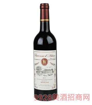 法国安平堡精选美乐干红葡萄酒
