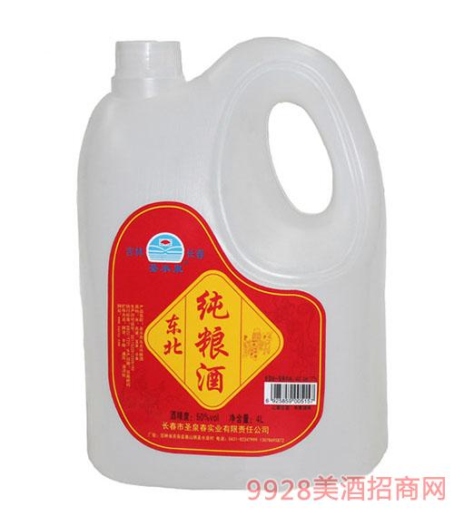 圣水泉東北純糧酒50度4Lx4