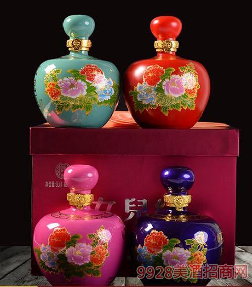 紹興黃酒女兒紅童年窖藏全新款四瓶禮盒裝半甜型