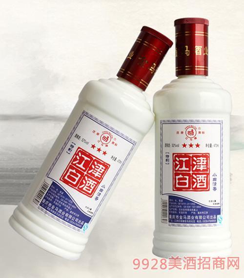 江津白酒白瓷瓶清香型52度470ml×12瓶