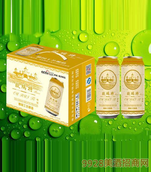 欧瑞特啤酒500ml×12听金罐
